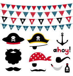 Pirate design element vector