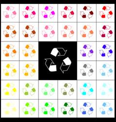 Recycle logo concept felt-pen 33 colorful vector