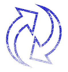 Refresh arrows grunge textured icon vector