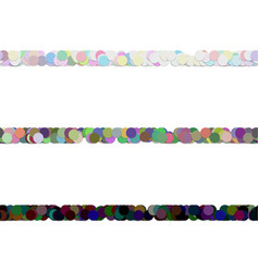 Seamless dot pattern paragraph divider line set vector