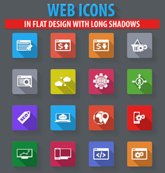 Set of seo and development icons set vector