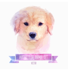 Set of watercolor cute dog vector