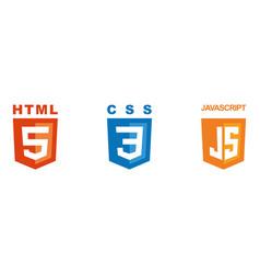 Set three icons - html css javascript vector