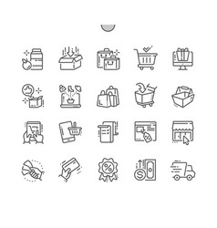 shopping well-crafted pixel perfect thin vector image