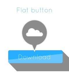 simple flat modern button template vector image