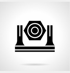 stage light glyph style icon vector image