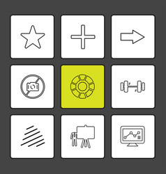 Star body building board chart graph vector