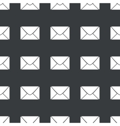 Straight black envelope pattern vector
