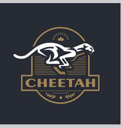 Stylized running cheetah vector