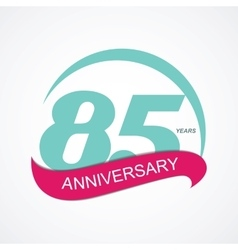 Template Logo 85 Anniversary vector image