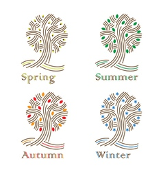 Tree sign vector image
