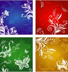 vegetative and flower ornament vector image