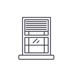 window line icon concept window linear vector image