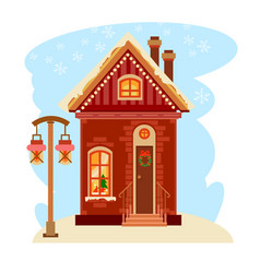 winter house collection one of set vector image