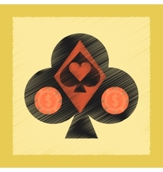 flat shading style icon poker logo vector image vector image