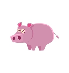 Hippo Toy Exotic Animal Drawing vector image