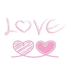 love heart ribbon rope decor inspiration idea vector image vector image