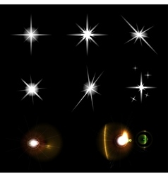 Star lights set vector image vector image