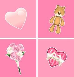 valentine ornaments vector image vector image