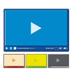 video player for web vector image vector image