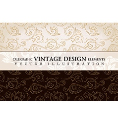 vintage wallpaper Gift wrap Floral background with vector image vector image