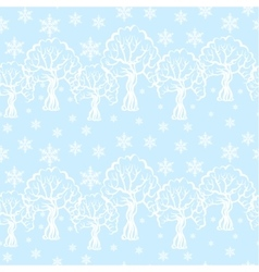 Winter pattern seamless vector image