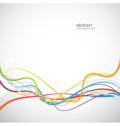 Abstract simple lines in footer art vector image
