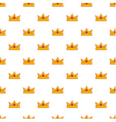 baronet crown pattern seamless vector image vector image