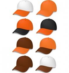 baseball caps vector image vector image