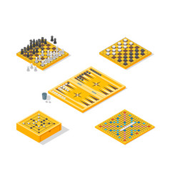 board games icons set isometric view vector image vector image