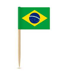 brazil flag toothpick 10eps vector image vector image