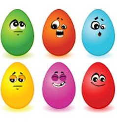 Eggs faces vector image
