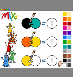 mix colors game for children vector image