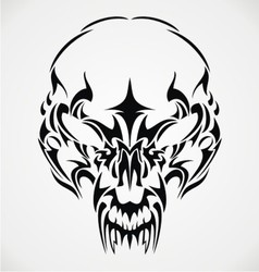 Tribal Scary Skulls vector image vector image