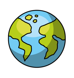 world earth planet icon vector image