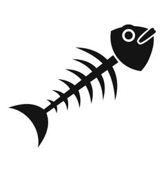 Fish bone icon simple style vector