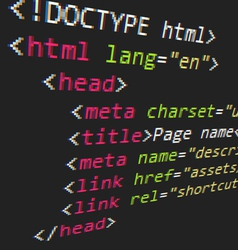 Css and html code vector
