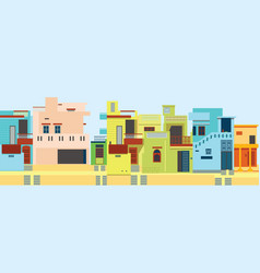 hindu urban architectural style vector image