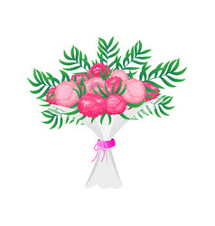 wedding botanical flowers for the groom and the vector image