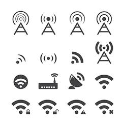 wireless icon vector image vector image