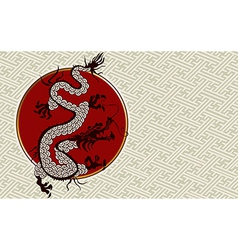 2012 China dragon year background vector