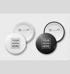 3d realistic metal or plastic white black vector image