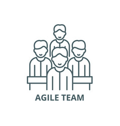 Agile team line icon agile team outline vector