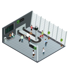 Airports Baggage Carousel Isometric Composition vector