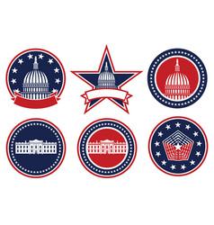 american patriotic logo set vector image