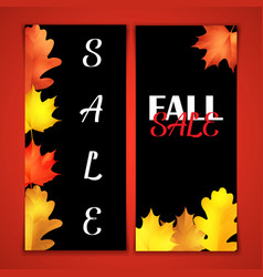 Autumn sale brochure black board with chalk vector
