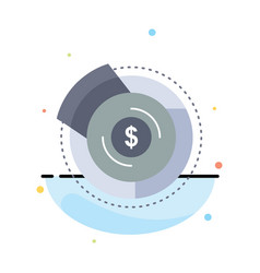 balance budget diagram financial graph flat color vector image