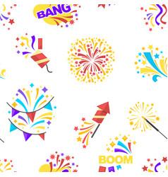 Bang party and celebration of holiday seamless vector