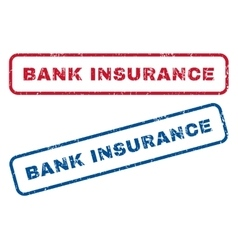 Bank Insurance Rubber Stamps vector image
