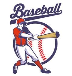 baseball player hitting ball vector image
